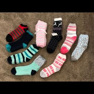 Fuzzy Socks: No Show, Ankle, & Crew (Set of 9)